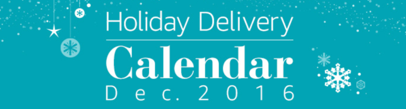 Amazon's Holiday Delivery Calendar -- Check When is Your Last Day to Order!