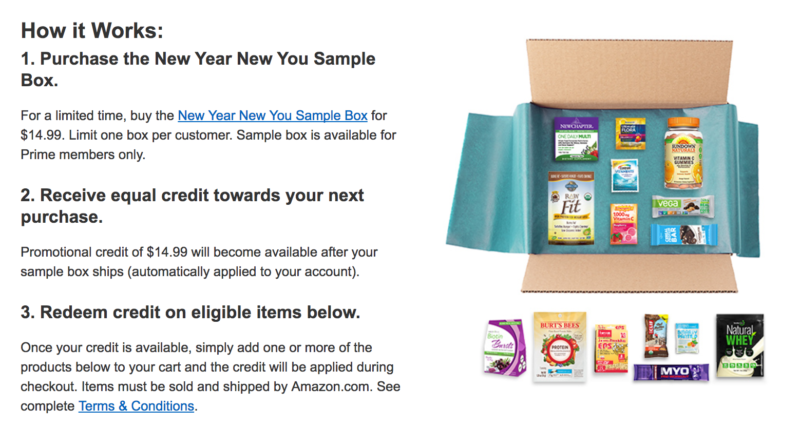 Here's What You Get in Amazon's FREE New Year New You Sample Box!