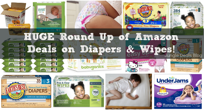 HUGE Round Up of Diapers & Wipes -- Updated January 2nd, 2017!