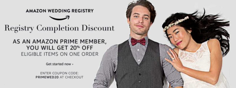 *HOT* Amazon Wedding Registry: Rare 20% Off Completion Discount!