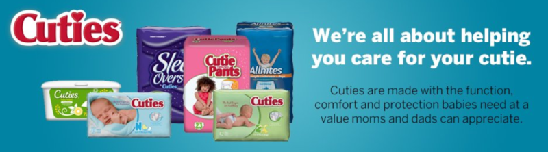 *HOT* Cuties Baby Diapers — Lots of Sizes as low as 7¢/Diaper!