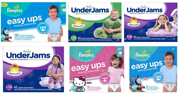 NEW Pampers Coupon = $3 Off Easy Ups or UnderJams + Extra 20% Off!