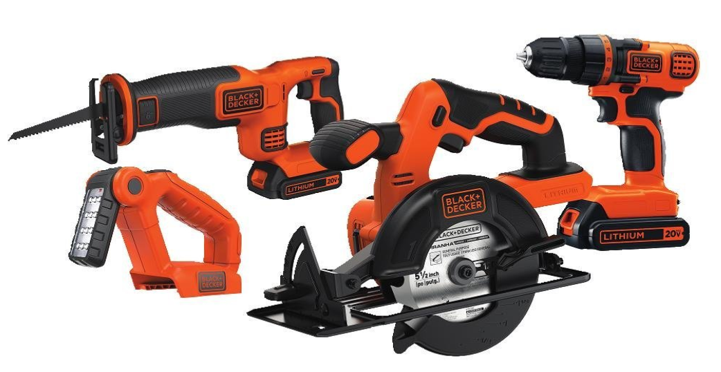 Black & Decker 20V MAX Drill/Driver Circular and Reciprocating Saw Combo Kit -- $81.00 (reg. $159.99), BEST Price!