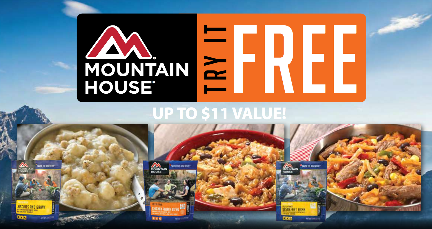 *FREE After Rebate* Mountain House Food Pouches ($11 Value)!