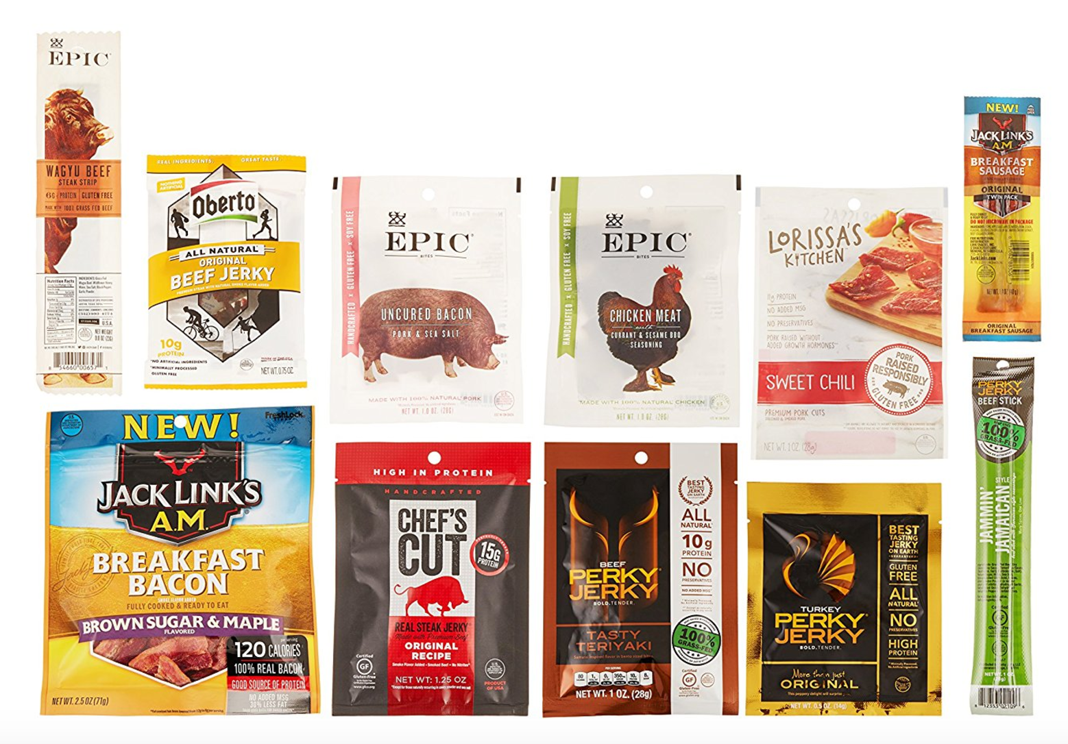 *WILL SELL OUT* Jerky Sample Box, 10 or more items $9.99 + $9.99 credit to Spend After Purchase!