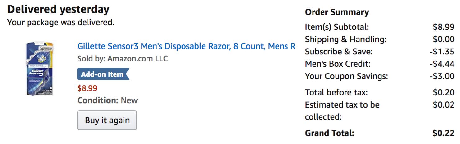 Gillette Sensor3 Men's Disposable Razor, 8 Count, Mens Razors / Blades