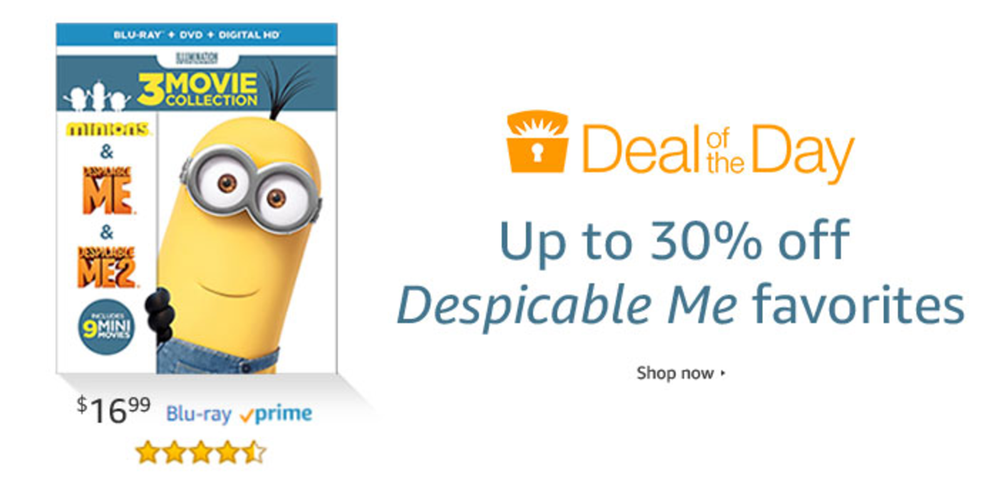 Deal of the Day: Up to 30% Off Despicable Me Favorites!