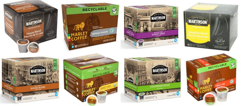 Up to 45% Off Select K-Cups from Martinson & Marley -- HUGE Boxes!