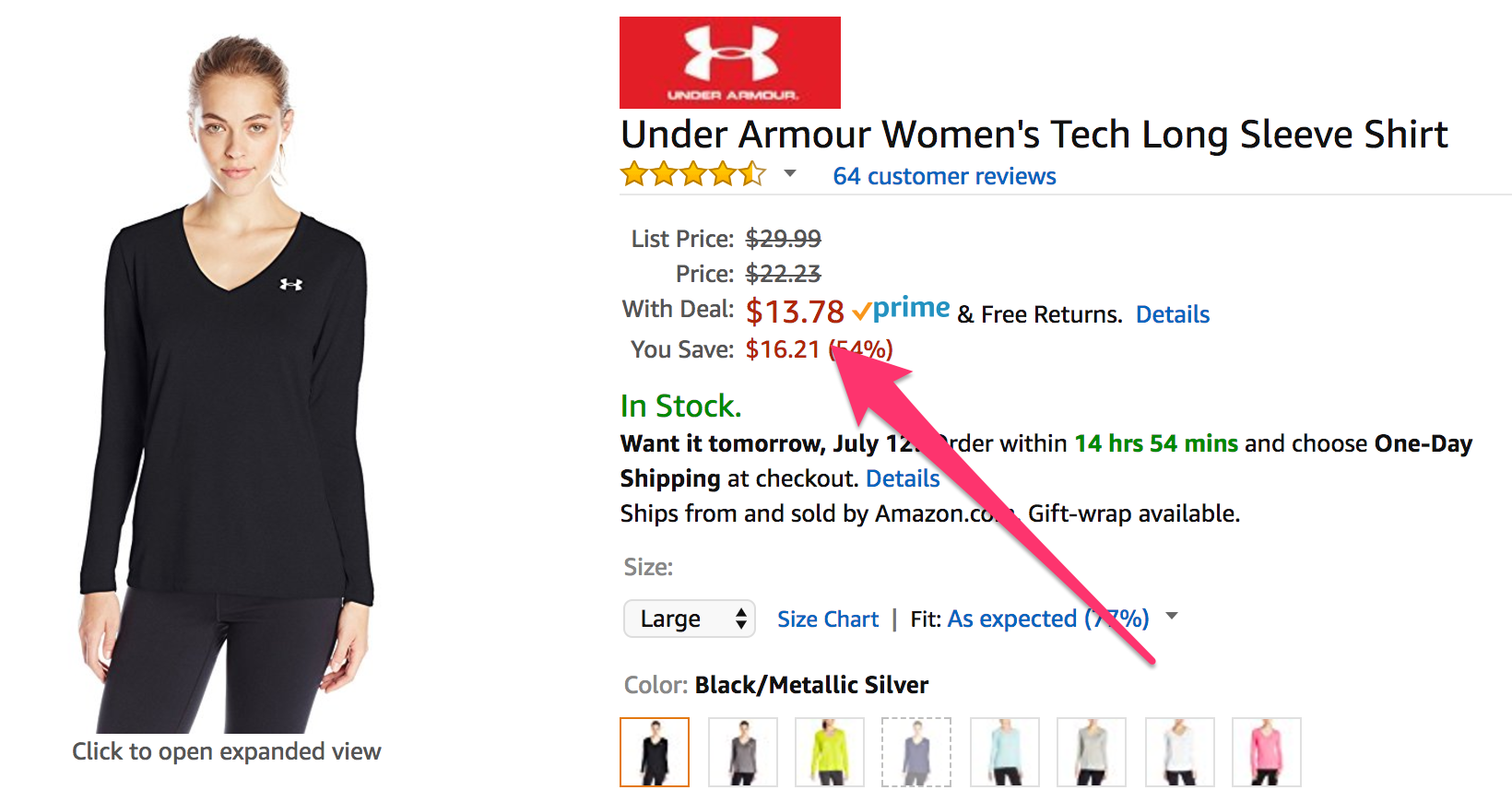f403c23b7f63 Amazon Prime Day  Up to 30% off select Under Armour apparel
