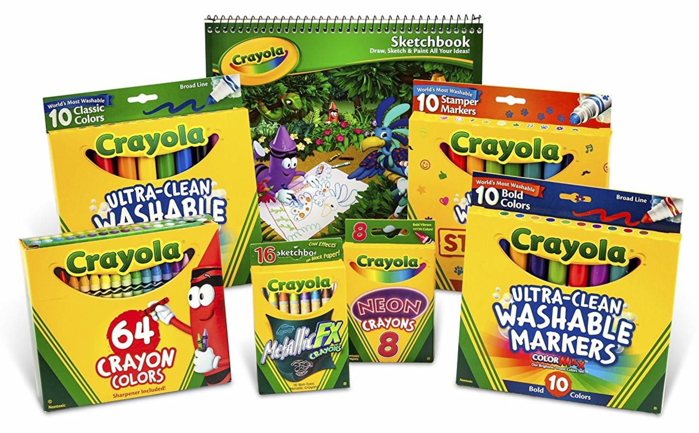 Crayola Crayon And Crayola Ultraclean Washable Marker Kit, BEST ...