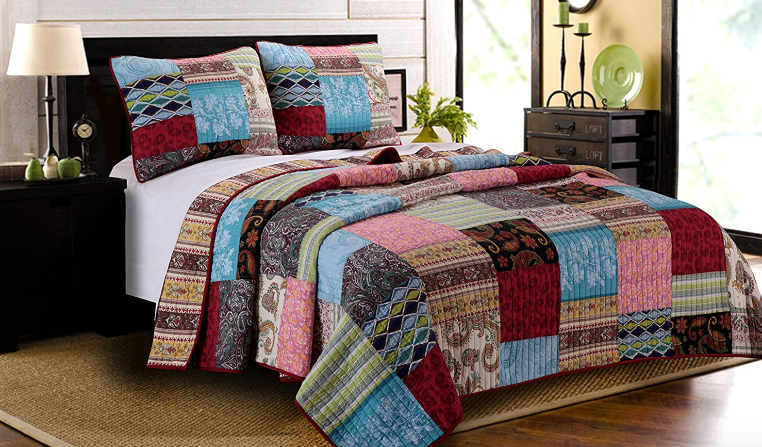 Beautiful Greenland Home 3 Piece Bohemian Dream Quilt Set, King -- $40.00 (reg. $55.08), BEST Price!