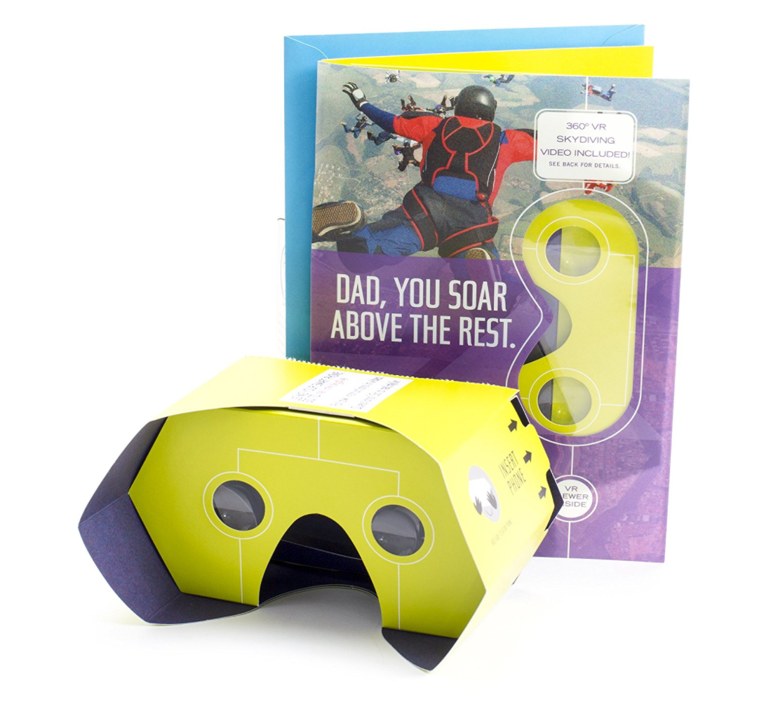Hallmark Fathers Day Greeting Card W Removable Virtual Reality Vr