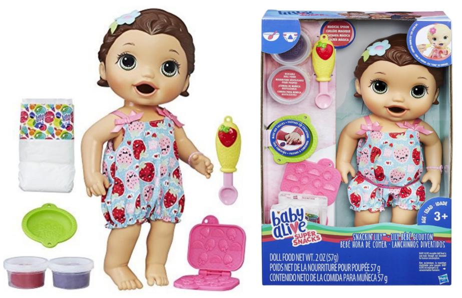 Baby Alive Super Snacks Snackin' Lily (Brunette) -- $19.13 (reg. $43.75), BEST Price!