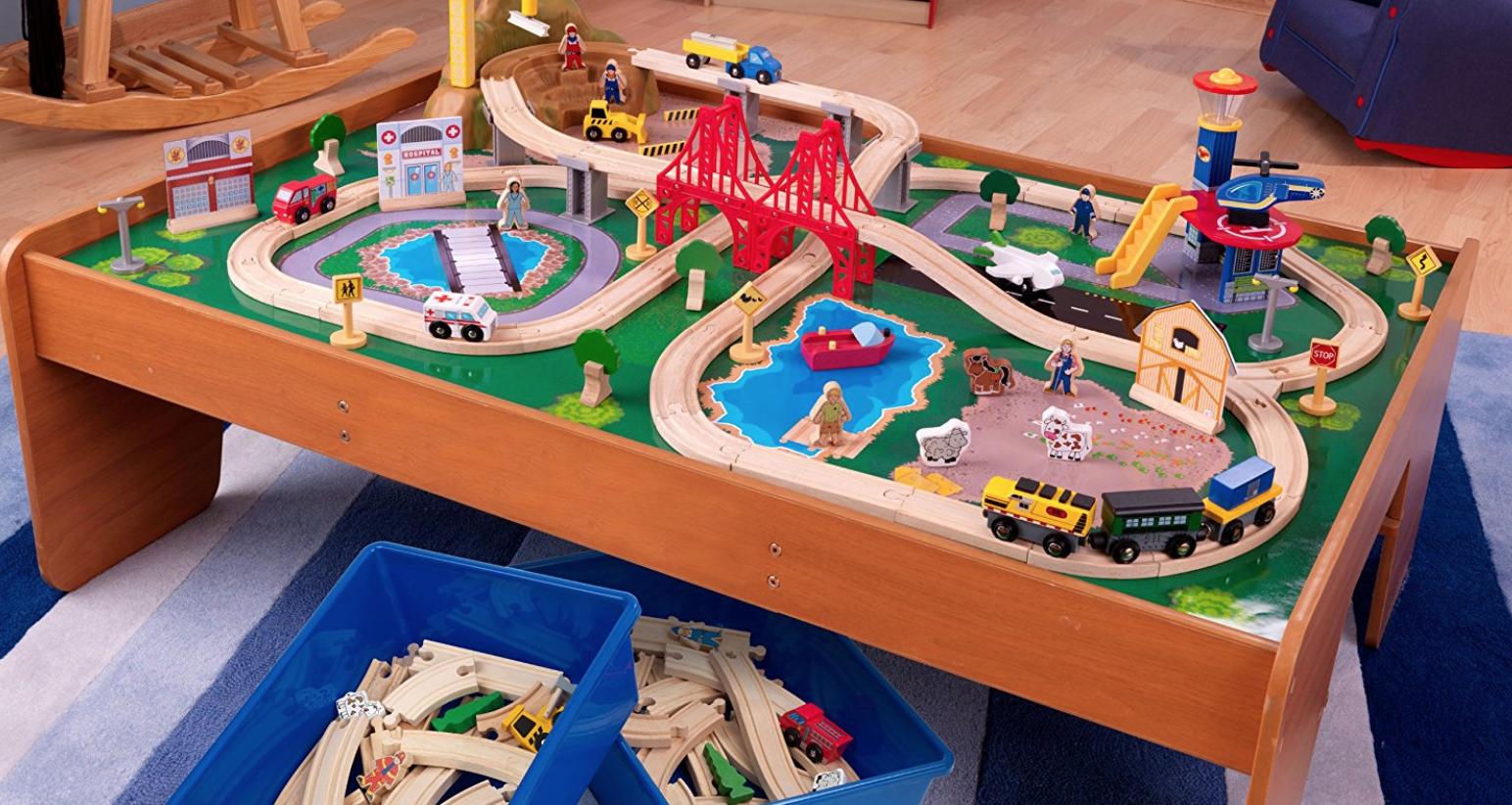 KidKraft Ride Around Train Set and Table -- $78.99 (reg. $136.99), BEST Price!