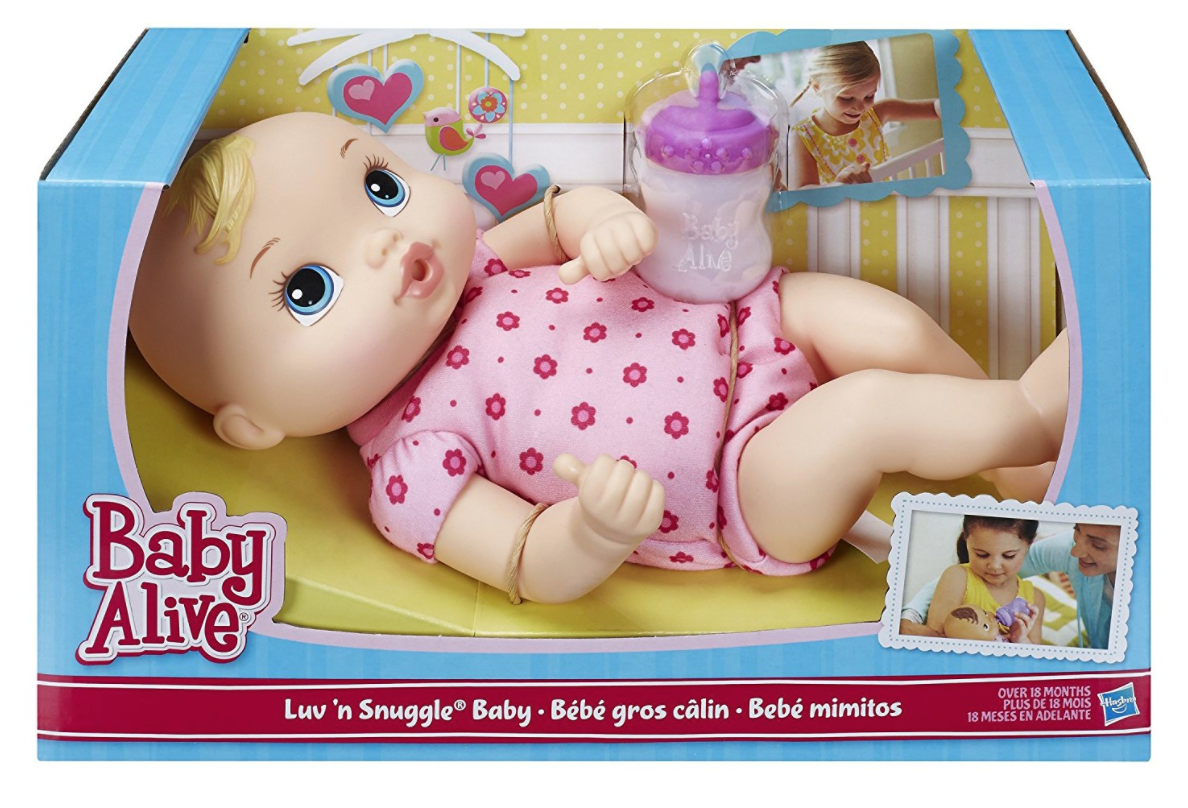 Baby Alive Luv 'n Snuggle Baby Doll Blond -- $8.99 (reg. $39.99), BEST price!