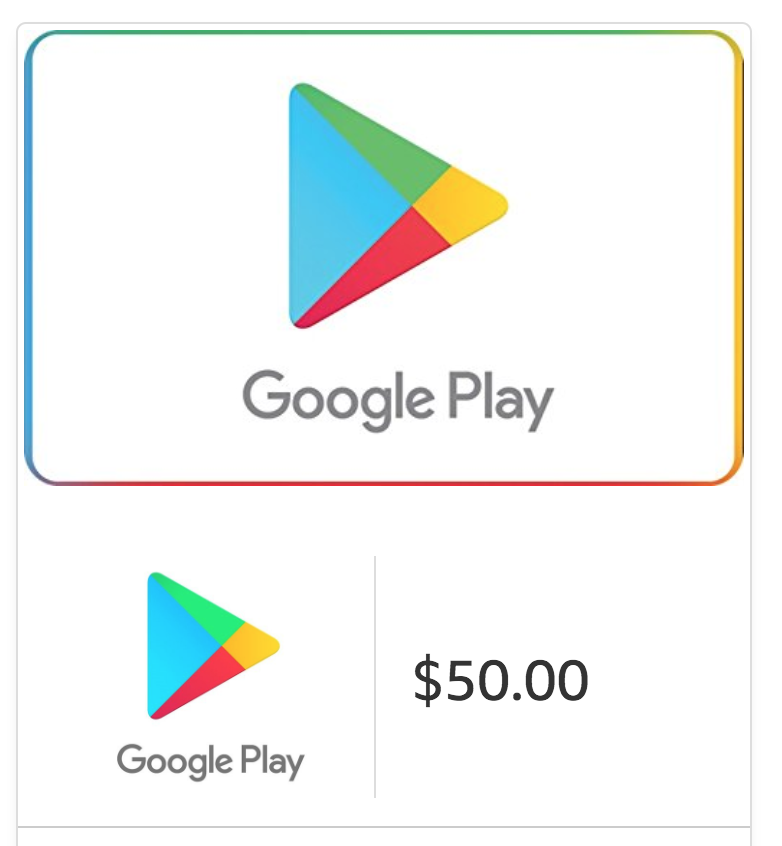 Spend $50, Get $5 Off on Google Play Email Gift Cards!