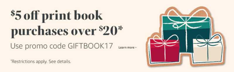Amazon Black Friday: $5 Off Book Purchases $20 Or More!