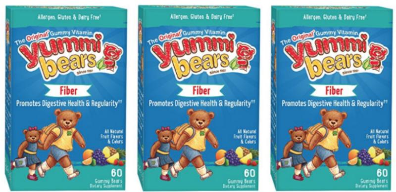 Yummi Bears Fiber Supplement Gummy Vitamin for Kids, 60 Count Gummy Bears as low as $4.08 (reg. $8.33)