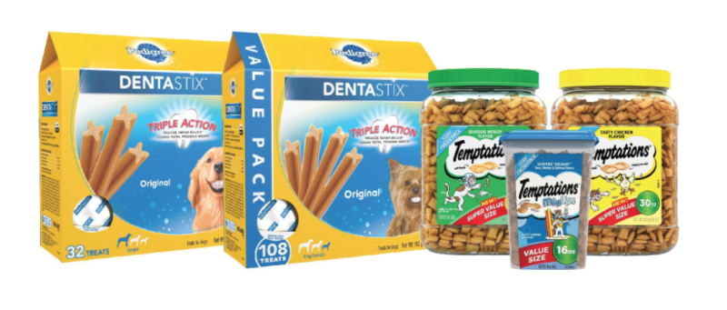 Save 30% or more on select Temptations Cat Treats and Dentastix Dog Treats