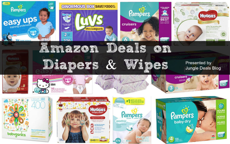 Coupon Resets = HUGE Round Up of Amazon Deals on Diapers & Wipes!