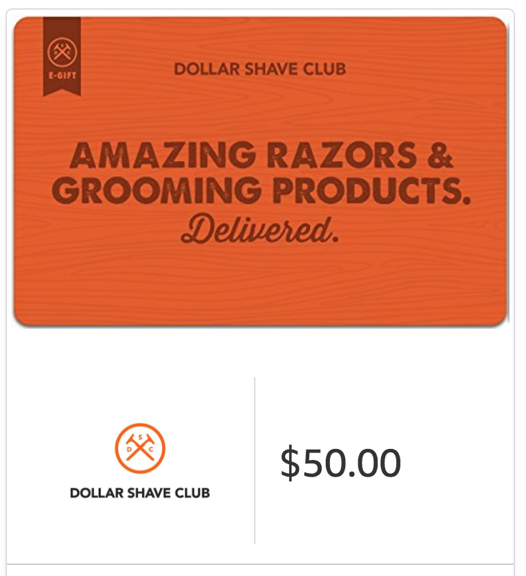 $50 Dollar Shave Club Gift Card - E-mail Delivery, ONLY $40!