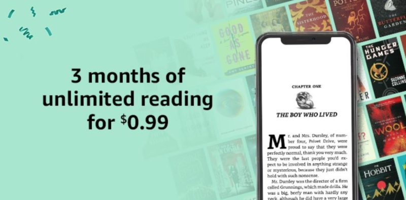 Amazon Prime Day Deal: 3 Months of Unlimited Reading for 99¢!