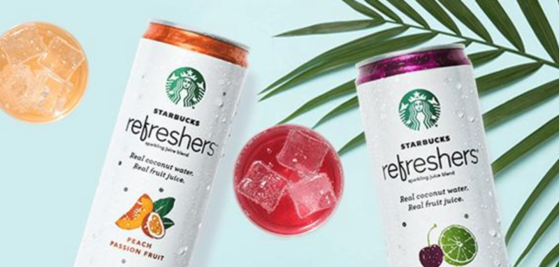 Starbucks Refreshers Sparkling Juice Blends, Strawberry Lemonade with Coconut Water, 12 Ounce, 12 Cans as low as $11.45 (reg. $19.08)