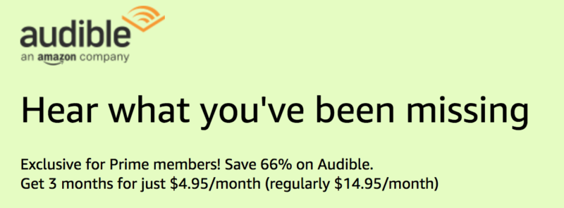 Amazon Prime Day: Save 66% Off Your First 3 Months of Audible