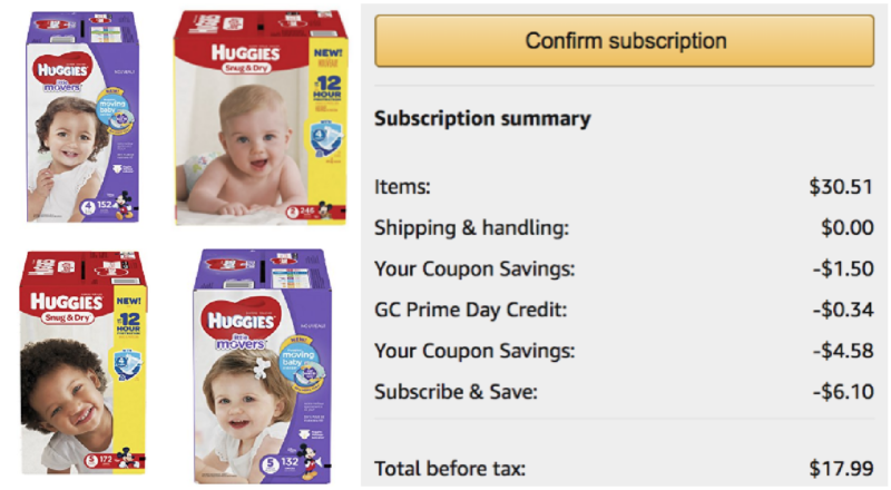 *Price Mistake?!* Double Coupons = Excellent Deals on Huggies Diapers!