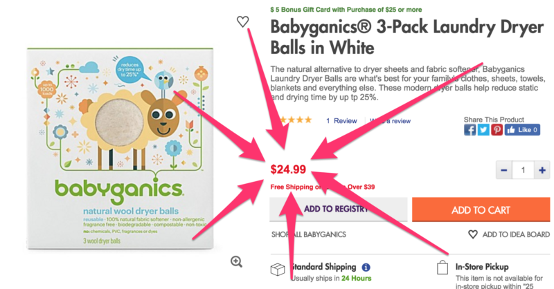 Up to 75% Off = Babyganics Natural Wool Laundry Dryer Balls as low as $5.27 (reg. $24.99) - See Mine!