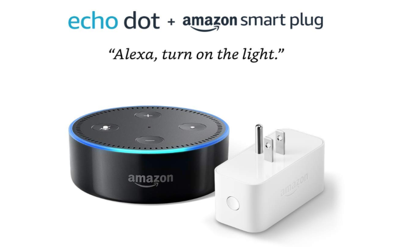 Amazon Black Friday: Echo Dot (2nd Generation) - Black with Amazon Smart Plug ONLY $24.99 (reg. $39.99)