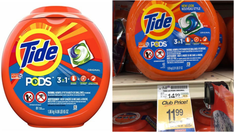 Tide PODS 3 in 1 HE Turbo Laundry Detergent Pacs, Original Scent, 81 Count Tub as low as $11.98 (reg. $19.99)