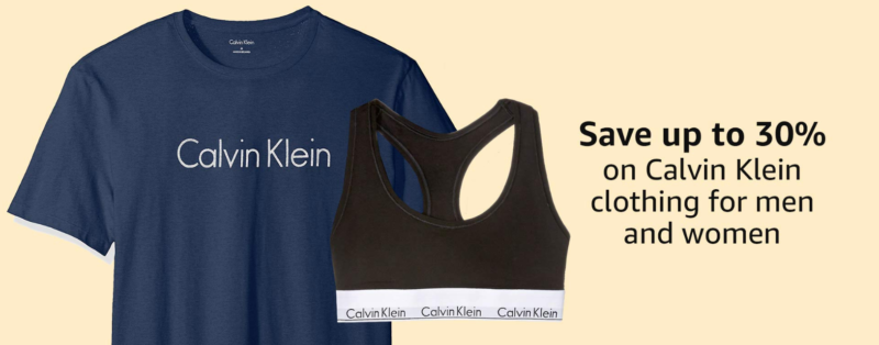 Amazon Prime Day: Save up to 30% on select Calvin Klein clothing!