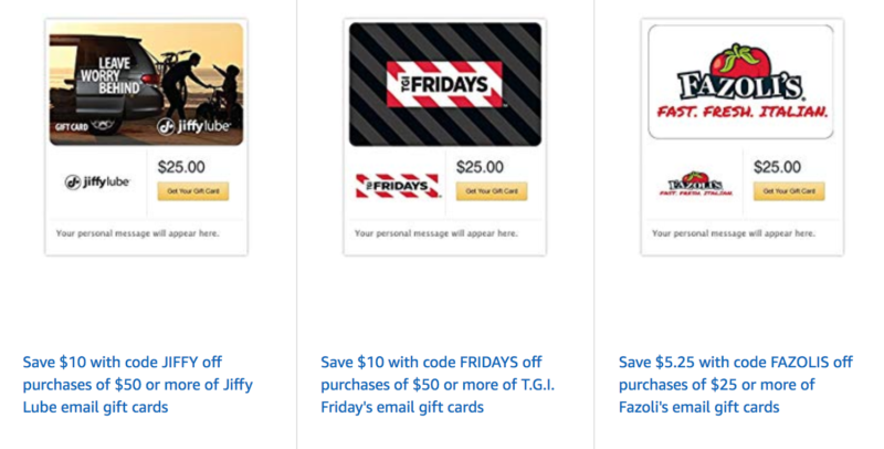 Amazon Black Friday Deals on Gift Cards
