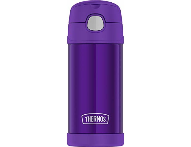 Thermos F4016VI6 12 Ounce Stainless Steel FUNtainer Bottle, Violet