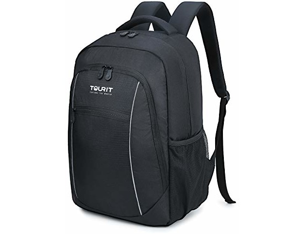 TOURIT Insulated Cooler Backpack Lightweight Backpack Cooler Bag Leak-Proof Backpack with Cooler for Men Women to Work, Picnics, Hiking, Camping, Beach, Park Day Trips, 25 Cans, Black