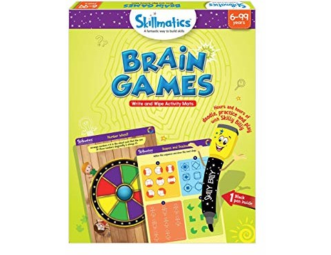 Skillmatics Educational Game: Brain Games (6-99 Years) | Fun Learning Games and Activities for Kids | Erasable and Reusable Mats