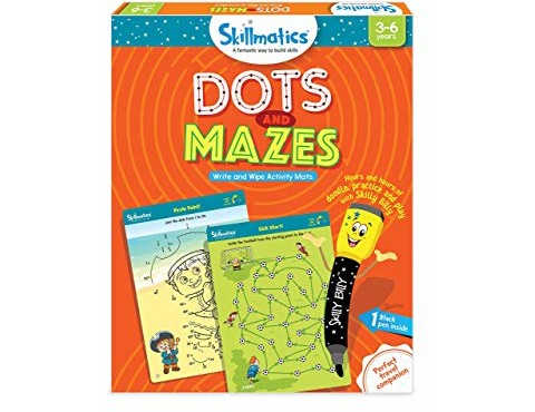 Skillmatics Educational Game: Dots and Mazes (3-6 Years) | Creative Fun Activities for Kids