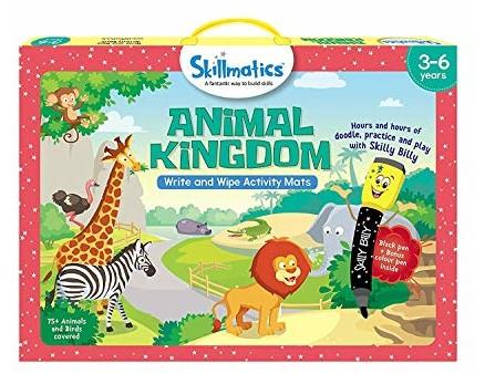Skillmatics Educational Game: Animal Kingdom (3-6 Years) | Creative Fun Activities for Kids