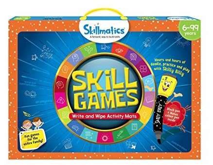 Skillmatics Educational Game: Skill Games (6-99 Years) | Fun Learning Games and Activities for Kids | Erasable and Reusable Mats