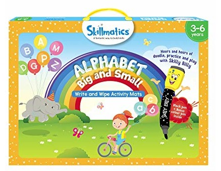Skillmatics Educational Game: Alphabet Big and Small (3-6 Years) | Creative Fun Activities for Kids