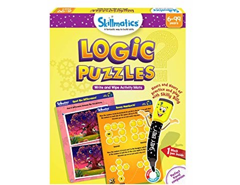 Skillmatics Educational Game: Logic Puzzles (6-99 Years) | Fun Games and Activities | Gifts for Kids | Erasable and Reusable Mats