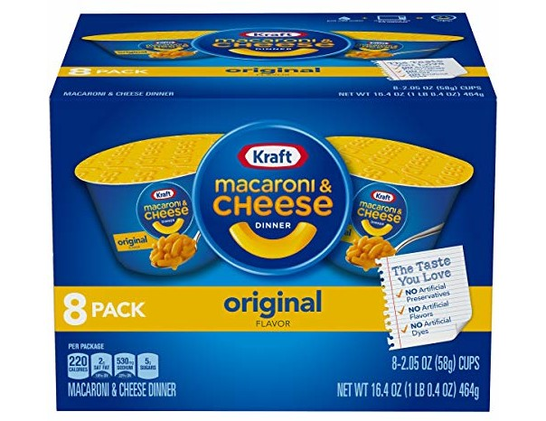 Kraft Original Macaroni & Cheese Dinner (2.05 oz Cups, 8 Count)