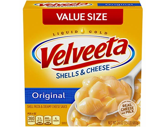 Velveeta Original Shells & Cheese Family Size (24oz Boxes, Pack of 3)