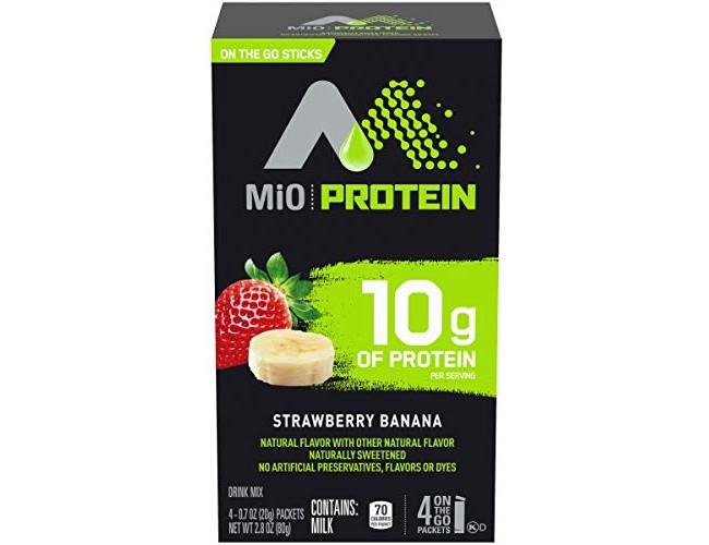 MiO Strawberry Banana Protein Powdered Soft Drink, 2.8 oz Box (Case of 12)