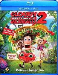 Cloudy with a Chance of Meatballs 2 (Two Disc Combo: Blu-ray / DVD + UltraViolet Digital Copy) JungleDealsBlog.com