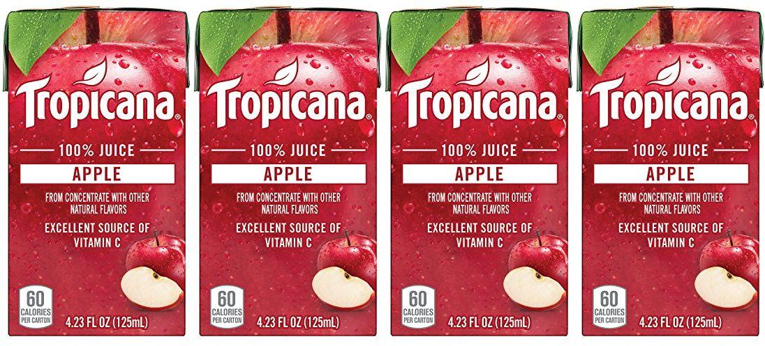 Image result for Tropicana 100% Juice Box, Apple Juice