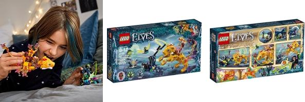 360 Pieces LEGO Elves Azari /& The Fire Lion Capture 41192 Building Kit