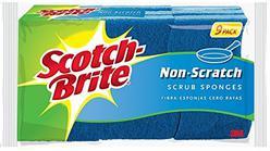 Scotch-Brite Non-Scratch Sponges, 9 Count, Built Strong to Last Long