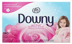 Downy April Fresh Fabric Softener Dryer Sheets, 240 count